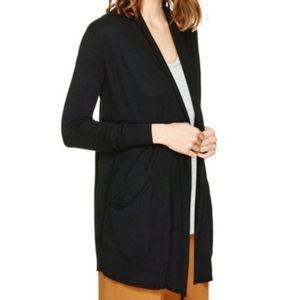 Aritzia Wilfred Silk & Cashmere Black Cardigan